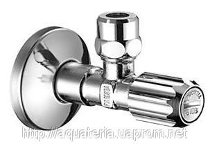 SCHELL Вентиль 1/2х3/8, хром  з фільтром з цангою, з різьбою  ASAG