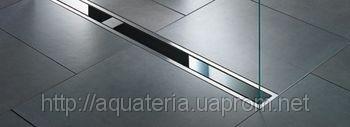 617080 Решетка для трап лотка Viega Visign ER9 черное стекло 800 мм